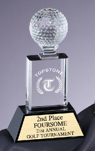 CRY306 Crystal Golf Trophy