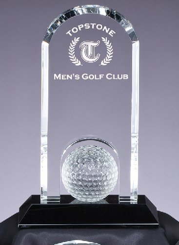 CRY308 Crystal Golf Trophy